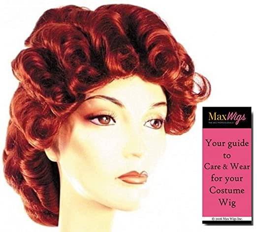 Vintage Hair Accessories: Combs, Headbands, Flowers, Scarf, Wigs 1871 Full Braided Color Auburn - Lacey Wigs Victorian Hostess Weathly Lady 18th CenturyBundle With MaxWigs Costume Wig Care Guide $77.99 AT vintagedancer.com