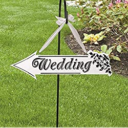 Giga Gud Wedding Sign Directional Wedding Signs Black and White Wooden Wedding Arrow Directional Sign Vintage Wooden Wedding Arrow Style Direction Sign Wedding Ceremony Decor for Wedding Reception