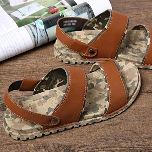 5 Uk6 UK5 Color Cn40 eu39 5 Sandals Summer Yellow Outdoor Simple MAZHONG EU38 Yellow CN38 Men's Casual Flat ZPHpCwZq