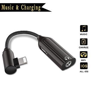Adaptador de Auriculares para iPhone 8 Adaptador de 3,5 mm Jack Conector para iPhone 7/7 Plus 8/8 Plus/XS/XS MAX/XR de música y Cargador Adaptador ...
