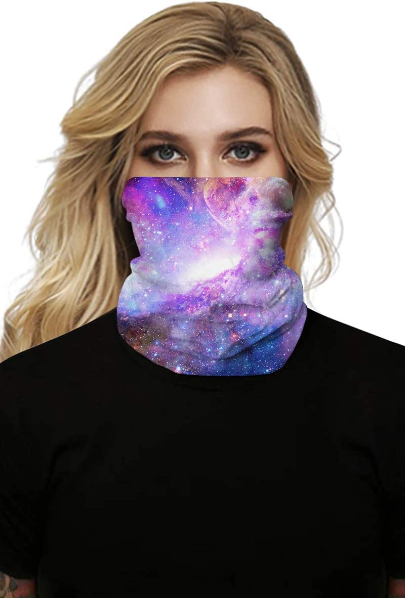 Belypoe Realistic Digital Print Seamless Face Mask Bandanas Headwear Turbans,Wind,Dust,Sun Resistant