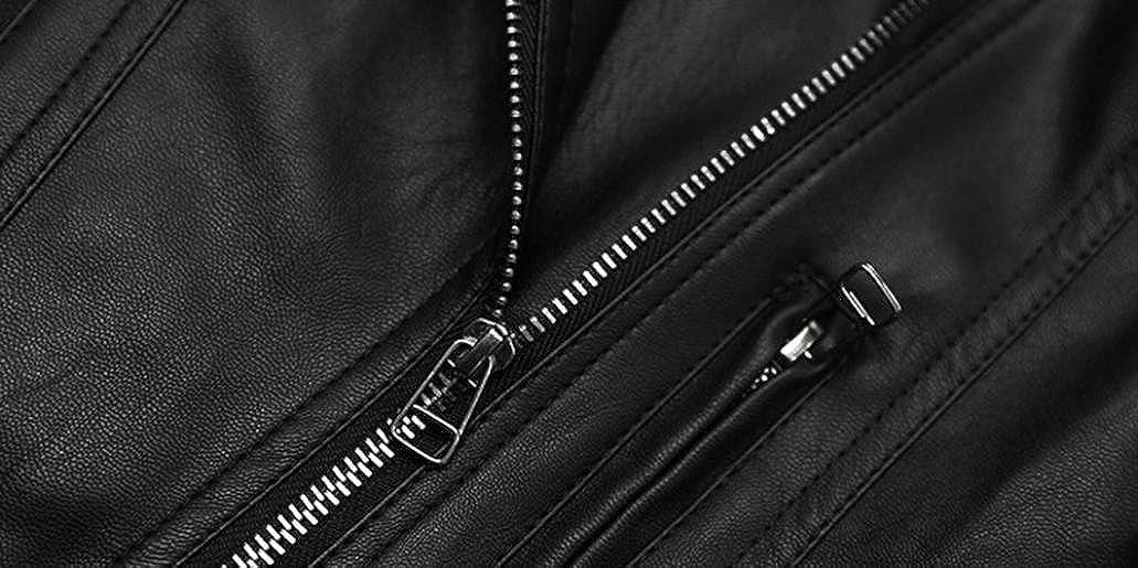 Jinjiu Kids Girls PU Leather Jacket Children Spring Autumn Fashion Coat Outwear Clothes