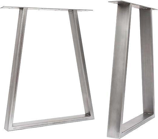 HLC] 2 x patas de mesa industriales de trapecio: acero ...
