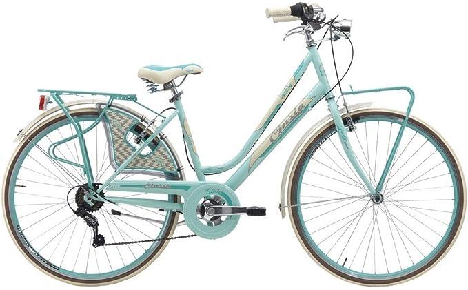Bicicleta Gipsy de mujer 28 ciclos Cinzia, azul claro: Amazon.es ...