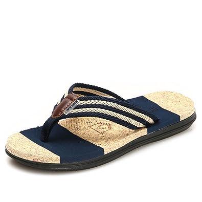 Phoenixes Flip Flops, Damen Pantoffeln Pantoletten Herren Hausschuhe Sommer Schuhe Anti-Rutsch Zehentrenner (42.5/43 EU, Herren Blau)