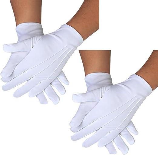 White Formal Gloves Tuxedo Honor Guard Parade Santa Men Inspection Mittens L