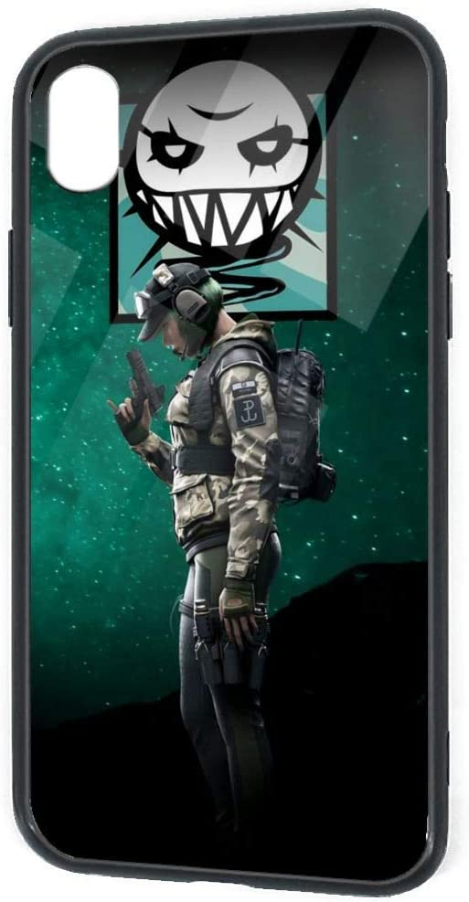Amazon Com Compatible With Iphone Xr Rainbow Six Siege Female Role Ela Wallpaper Cool Soft Tpu Tempered Glass Slim Cover Case Sandproof 360 Protective Case For Iphone Xr 6 1 Inch 2018
