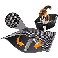 Original Premium Durable Cat Litter Mat,Cat Litter Box Mat Litter Trapper of Jumbo with Double Layer Honey Comb Design(Multiple Sizes)