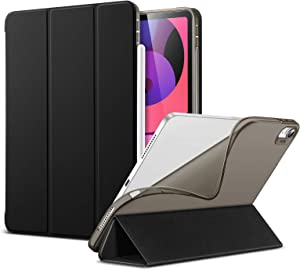ESR Slim Smart Case for iPad Air 4 2020 10.9 Inch [Auto Sleep/Wake Cover] [Viewing/Typing Stand Modes] [Flexible TPU Back] Rebound Series - Black