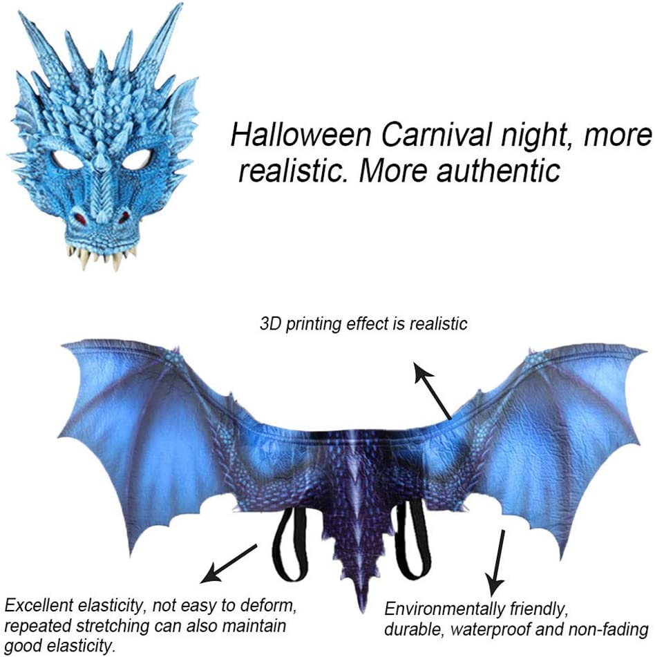 Adult size Supersoft Foam Dragon Face Mask 3 colors fnt Costume Accessory