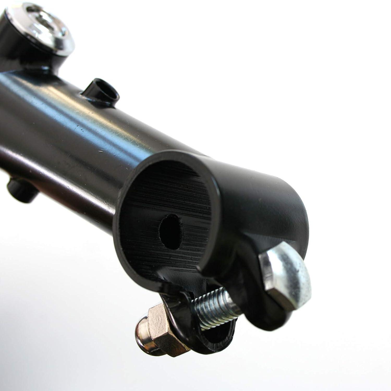 Bankrupt surplus 1 HYBRID HANDLEBAR QUILL Bike Bicycle STEM in BLACK 90mm Reach NEW