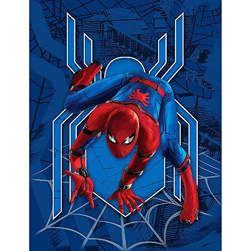 Jay Franco Marvel Spider-Man Homecoming Plush Fleece Blanket Throw