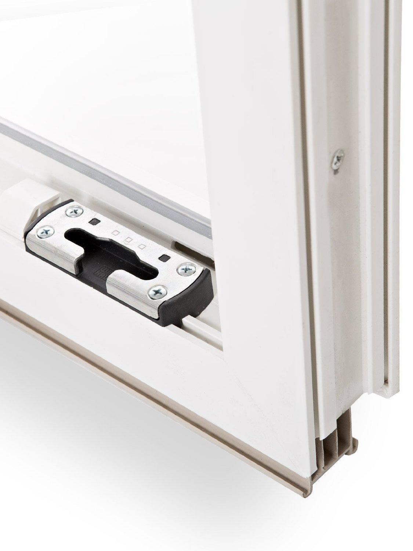 schneller Versand Fenster 60mm Profil BxH: 65x45 cm DIN rechts Kellerfenster verschiedene Ma/ße 2-fach-Verglasung wei/ß Kunststoff