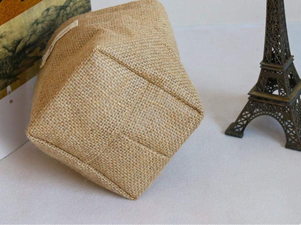 LIOOBO Tela de algod/ón Maceta Colgante Cesta de Almacenamiento a Rayas Bolsa de Almacenamiento de Yute Punto Azul