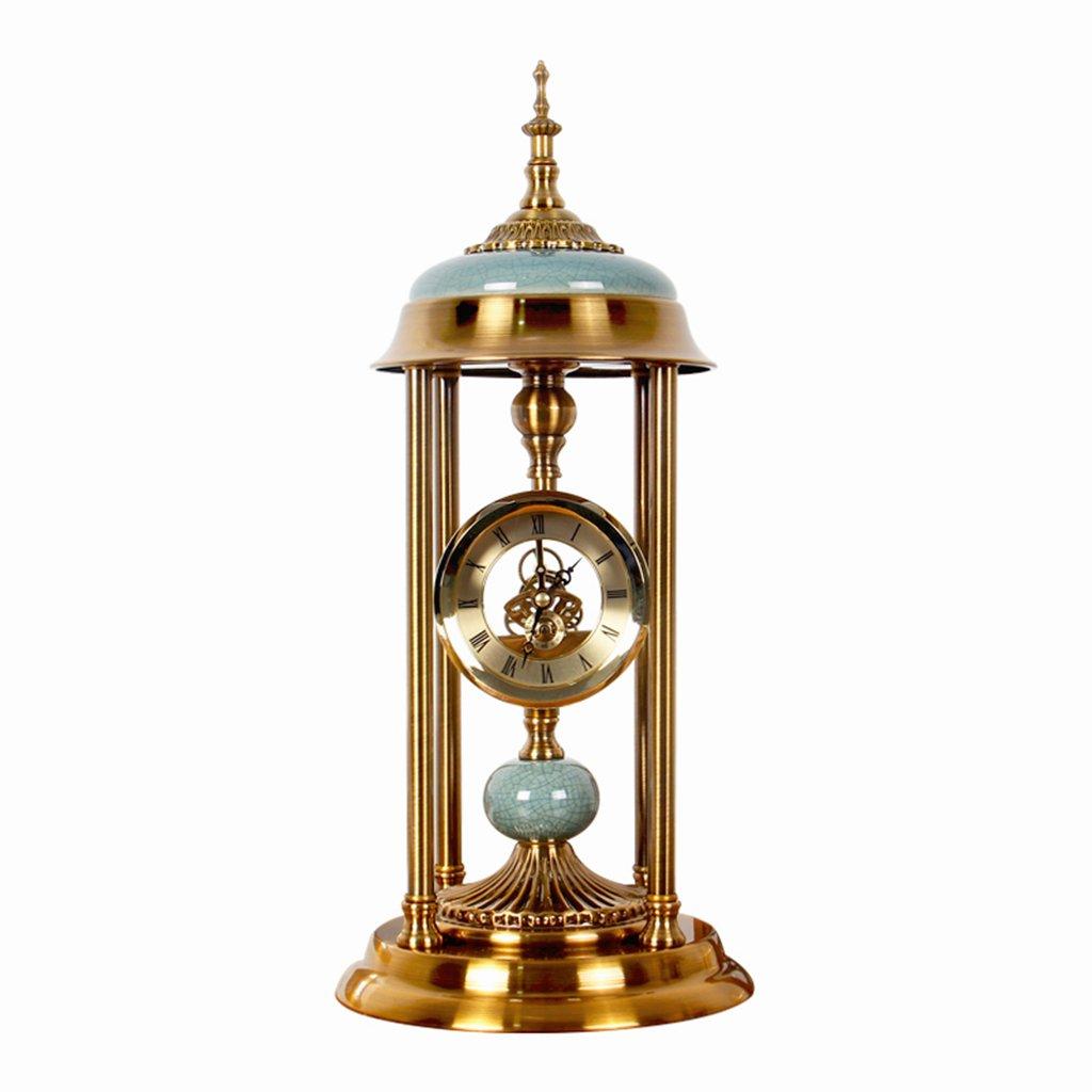 ヨーロッパの時計時計の装飾品アメリカの家時計の時計居間の机の時計クリエイティブスタディの装飾 B07DPPD29X