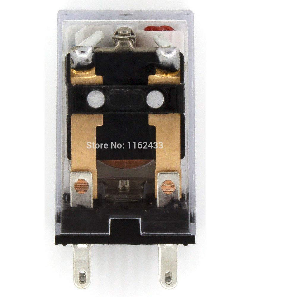 ETial HH52P DC 48V Coil DPDT 8 Terminals Indicator Light Electromagnetic Power Relay w Base
