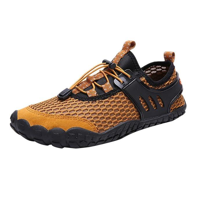 Mymyguoe Zapatos de Verano para Hombres Zapatos de Playa Pareja Zapatillas para Correr al Aire Libre, Zapatos para Caminar Zapatillas de Agua Transpirable ...