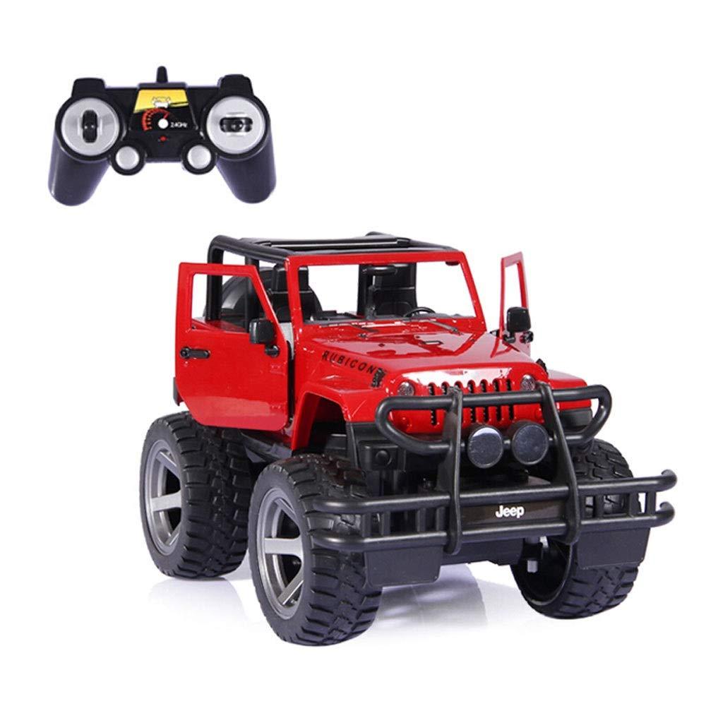 Bseion Jeep Wrangler Remote Control Car Veicolo Fuoristrada Ricarica Luce 1 12 Modello di Simulazione Giocattolo Elettrico Maniglia Un Pulsante per Aprire la Porta ( Colore   rosso )