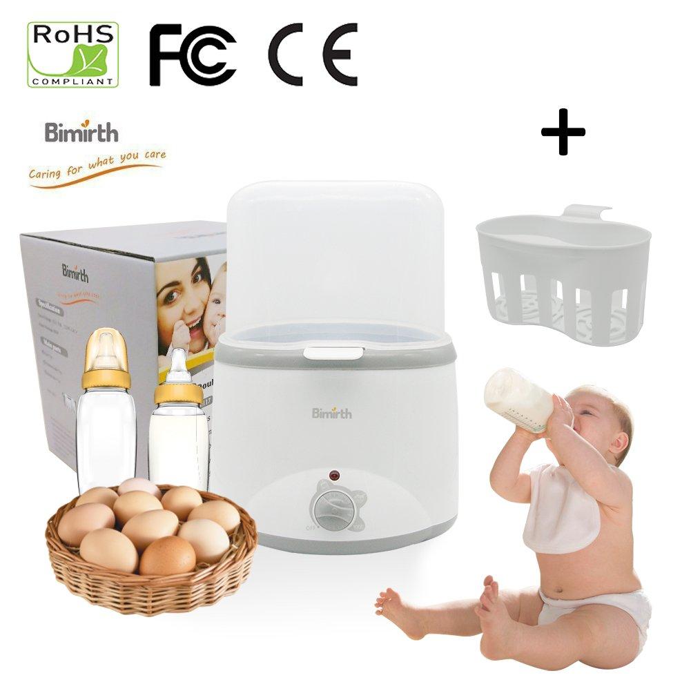 Samber Bottle Milk Warmer & Steam Sterilizer 3-in-1 Baby Bottle Warmer Food Heater for Breast Milk or Formula with Double Bottles Design