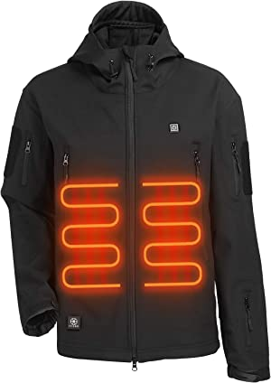Heated Jacket with 7.4V 5200mA Rechargeable Battery Pack Best for Outdoor Sport