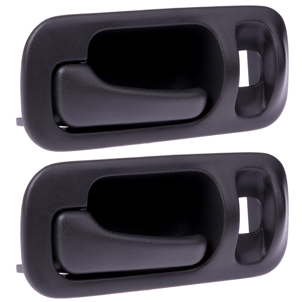 SCITOO Door Handles Interior Rear Left Side fit 1992-1995 Honda Civic Gray(2pcs)