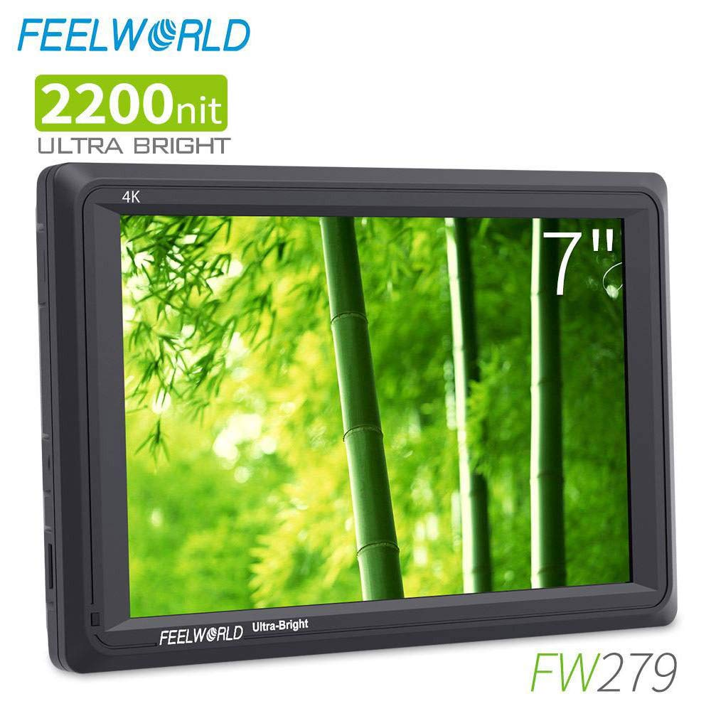 FEELWORLD FW279 7 Inch 2200nit Ultra Bright DSLR Camera Field Monitor High Brightness Sunlight Viewable Full HD 1920x1200 4K HDMI Input Output by FEELWORLD