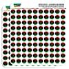 """Libya National Country Flag 1/2"""" (0.5"""") Planner Calendar Scrapbooking Crafting Stickers - Opaque"""