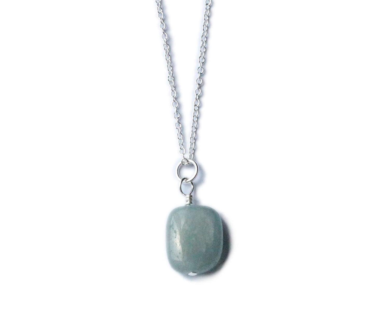 Aquamarine Gemstone Clip on Charm GENUINE AQUAMARINE /& STERLING SILVER