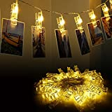 Tools & Hardware : Vmanoo String Lights Battery Powered, 30 LED 12 Feet Photo Clips Lighting Ideal for Hanging Picture Cards and Memos, Home Bedroom Wedding, Xmas Party Decoration, Valentines Gift, 2PACK (Warm White)