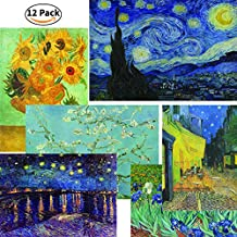 Creanoso Vincent Van Gogh Famous Paintings Poster (12-Pack) - Starry Night Sunflowers Almond Blossoms A3 Size - Great Home, Office, Room Decoration Famous Imperial Arts Collection & Gift