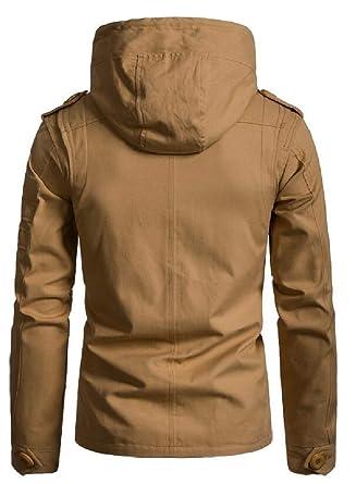 Amazon.com: P&E Los hombres solo pecho abrigo forrado de ...