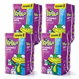 Baby : Kandoo Kids Flushable Wipes Refill, Potty Training Cleansing Cloths, Sensitive, 250 Count (Pack of 4)