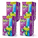 Kandoo Kids Flushable Wipes Refill, Potty Training Cleansing Cloths, Sensitive, 250 Count (Pack of 4)