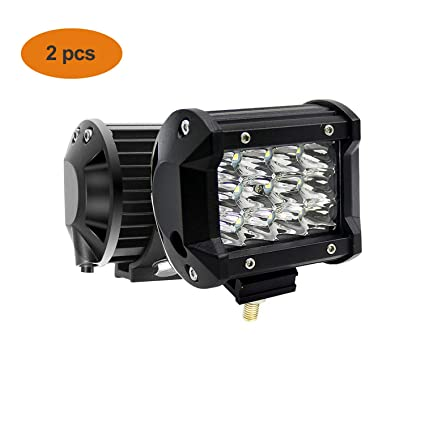 HIP TEC 2pcs Focos LED Barra de luz LED de 3 filas de 36 W para ...