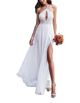 Vweil 2018 Vestido De novia Sexy Chiffon Lace Bridal Wedding Dresses For Women at Amazon Womens Clothing store:
