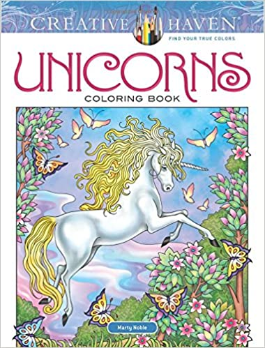 Amazon Com Creative Haven Unicorns Coloring Book Adult Coloring