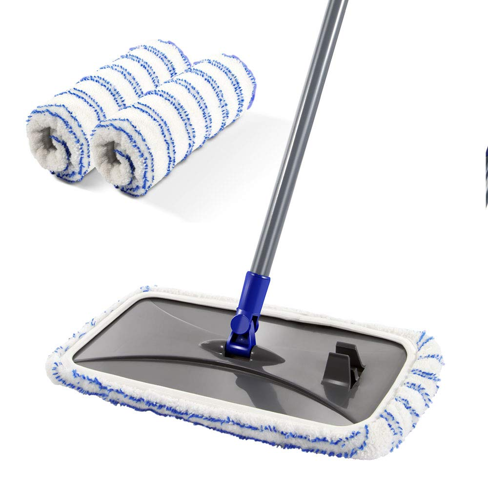 Mastertop Large Surface Microfiber Flat Mop 360 Degree Used Wet and Dry with Adjustable Handle for Hardwood Floors