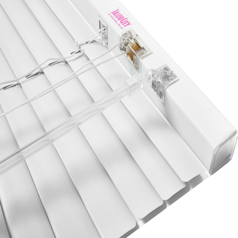 JalouCity Aluminium Jalousie inklusive Montagematerial Weiß 140 x 240 cm (BxH)