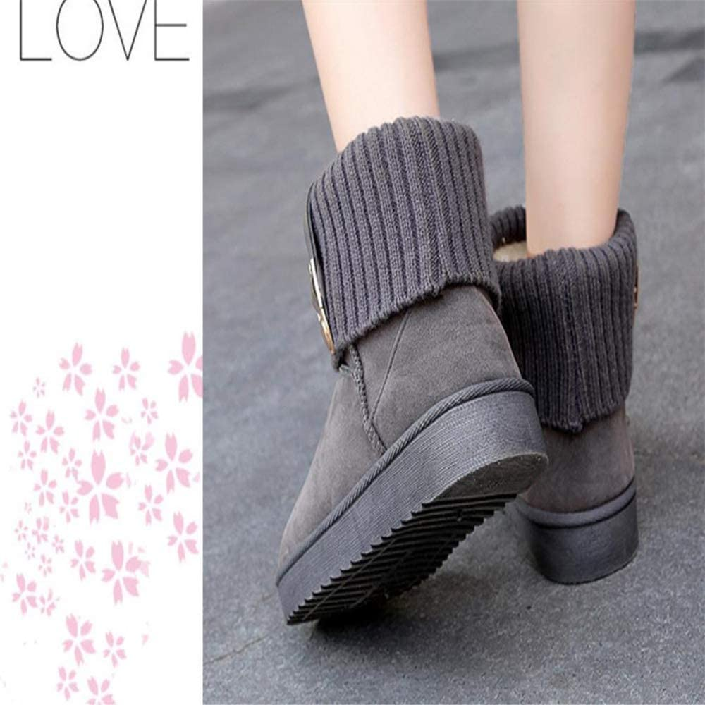 Super frist Christmas Fashion Cotton Boots Womens Waterproof Flat Boots Warm Anti-Slip Boots Winter Boots