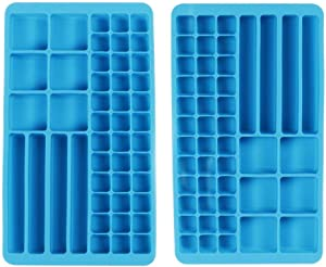 Webake Silicone Ice Cube Trays 2 Pack Ice cube Molds For Sports and Water Bottles,Whiskey, Cocktail, Beverage -Muti-functional Purpose