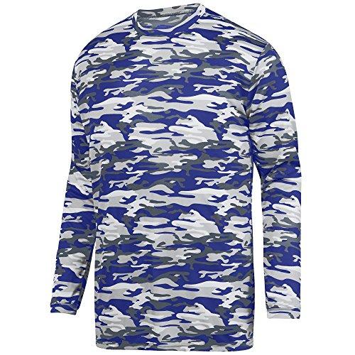 Augusta Sportswear Men's Mod Camo Long Sleeve Wicking Tee L Purple Mod