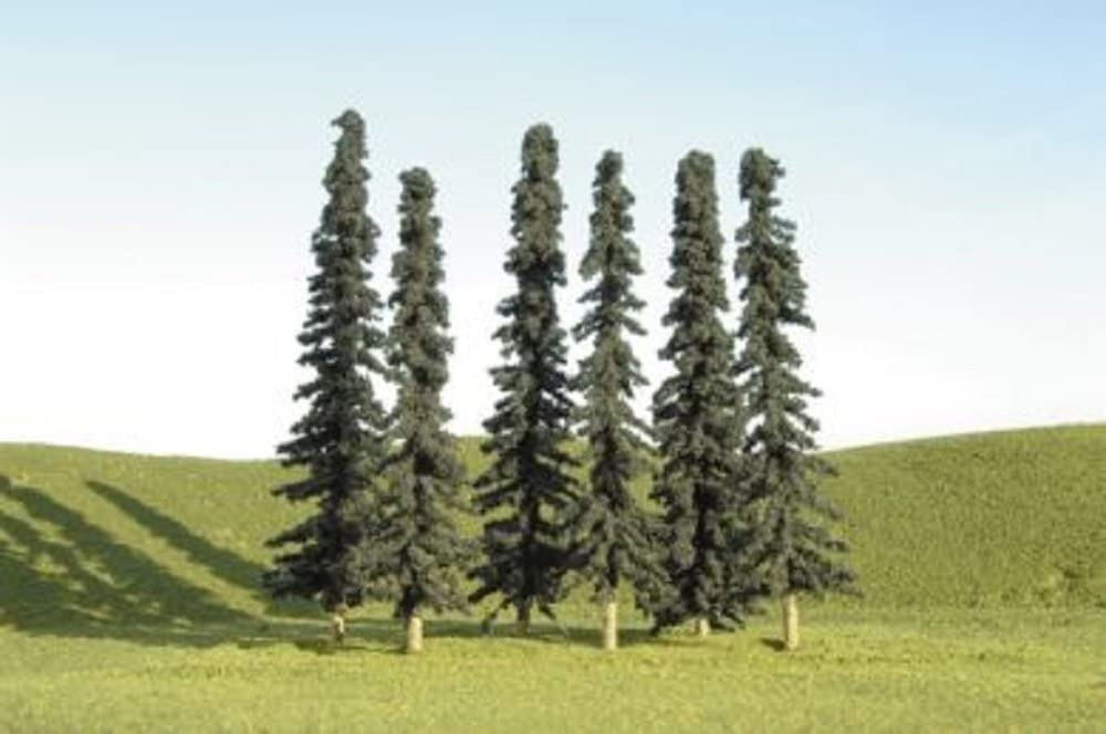 24 per Bag Bachmann Industries Scene Scapes HO Scale 4-6 Conifer Trees