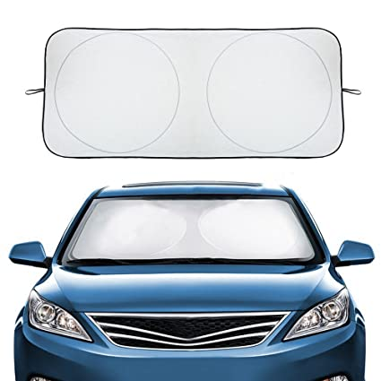 Sun Blocker For Car >> Audew Car Sun Shade For Windshield Car Sun Blocker Foldable Car Front Window Sunshade Car Window Shade Front Windshield Universal Fit For For Most