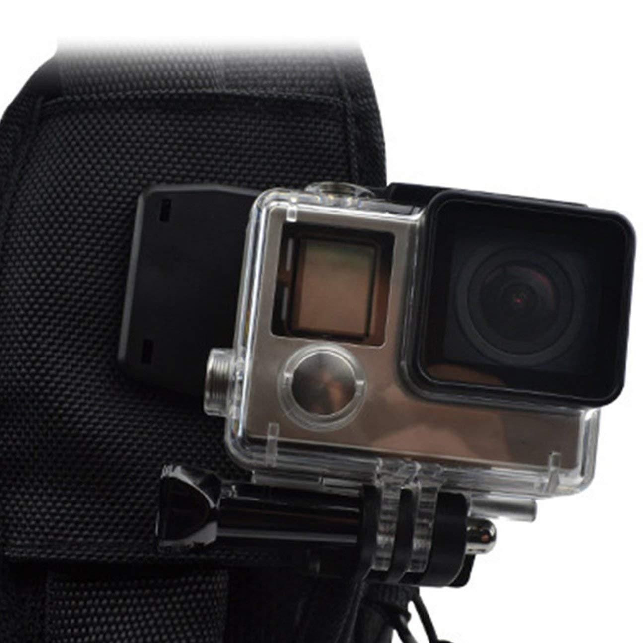 Clip portatile da 360 gradi con morsetto a molla per montaggio su gancio per Gopro Hero 4//3 // 3//2 per accessorio fotocamera SJ4000 SJ6000 AT200 nero