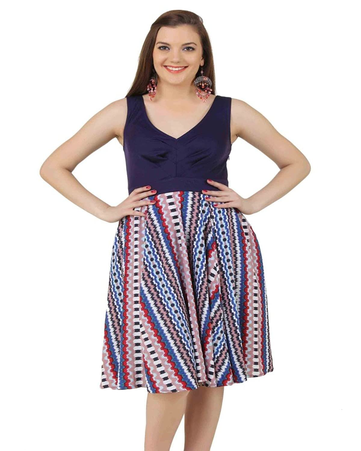 LoveURAPpearance Women's Harper Flared Dress - Regular and Plus Size