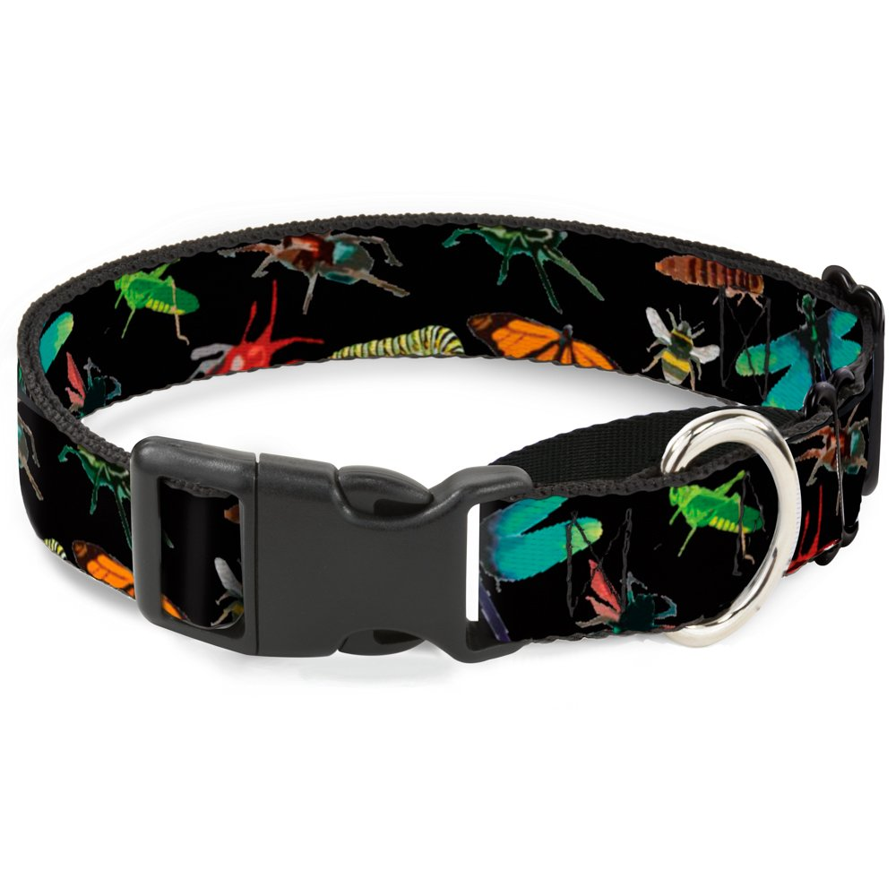 Buckle-Down MGC-W30944-M Insects Scattered Close-Up Black Martingale Dog Collar, Medium