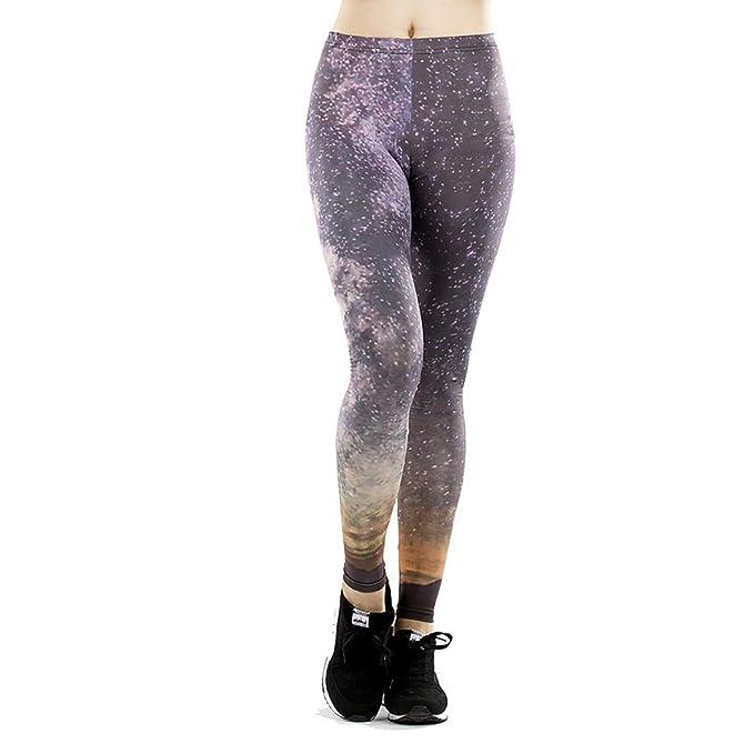 Pantalones De Yoga De Las Polainas De La Impresión Digital De La ...