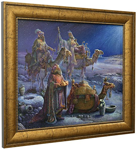 [Tom duBois ~ And Wise Men Came Bearing Gifts ~ CANVAS Signed & Numbered Framed] (Wise Signed)