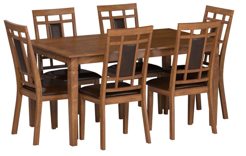 Amazon Com Furniture Of America Lazio 7 Piece Transitional Dining Set Light Oak Table Chair Sets