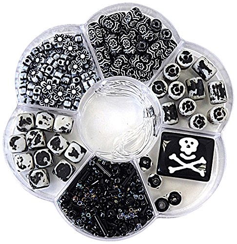 Linpeng Jewelry Making DIY Beads Set, Black & White